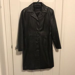 🔥Long leather trench coat 🔥 Canadian brand